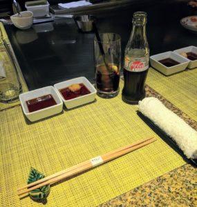 Aan de bakplaat bij Sazanka in het Okura hotel